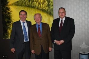 Matthias Platzeck, Ministerpräsident des Landes Brandenburg; Dr. Günther Jikeli, Aktionsbündnis; Dr. Thomas Freund, Bevollmächtigter des Landes Mecklenburg-Vorpommern beim Bund